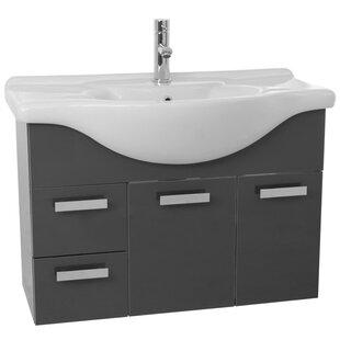 Phinex 39.4 Single Wall Mount Bathroom Vanity Set By Nameeks Vanities