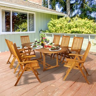 Lesko 9 Piece Dining Set by Millwood Pines