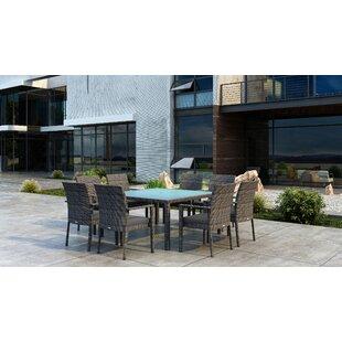 Orren Ellis Gilleland 9 Piece Dining Set with Sunbrella Cushion