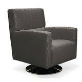 Roth 29 W Full Grain Leather Swivel Armchair by Orren Ellis