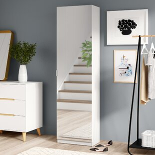 Mirror Shoe Storage Cabinet By Hashtag Home
