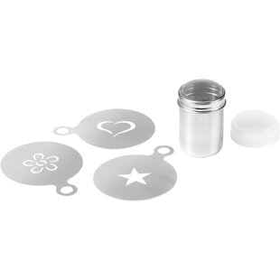 4 Piece Non-Stick Stencil and Shaker Set