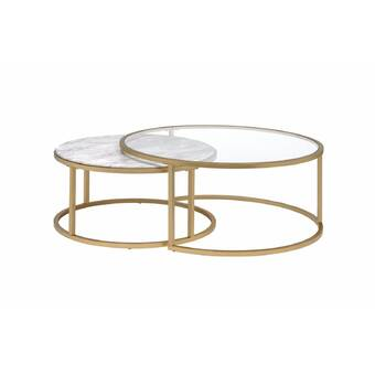 Everly Quinn Saroyan 2 Piece Coffee Table Set Reviews Wayfair