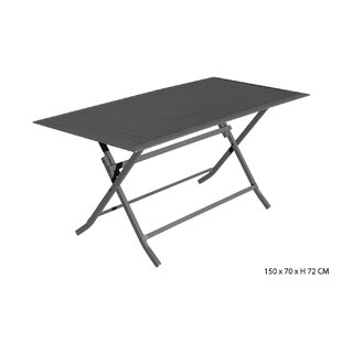 Kathlene Folding Aluminum Dining Table Image