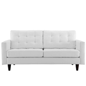 princess leather loveseat - Black Leather Loveseat