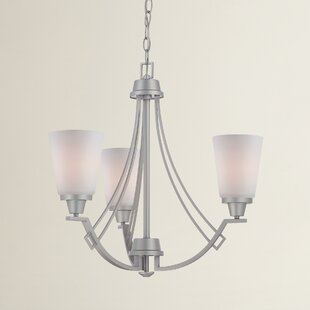 Reviews Simpson 3-Light Shaded Chandelier By Latitude Run