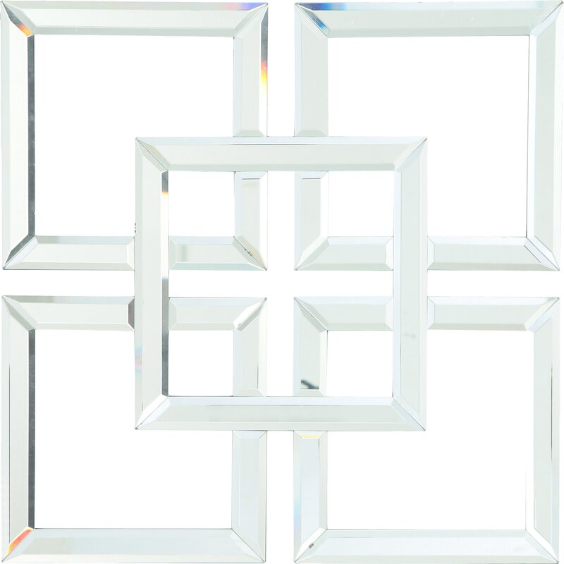 Geometric Glass Mirrored Wall Decor