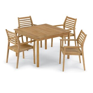 Rosecliff Heights Crosslin 5 Piece Dining Set