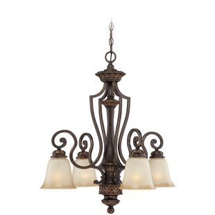 Fleur De Lis Living Charlestown 4-Light Shaded Chandelier