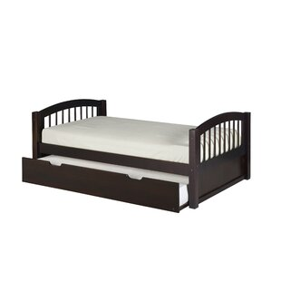 Inexpensive Oakwood Twin Wood Slat Bed with Trundle by Harriet Bee Reviews (2019) & Buyer's Guide