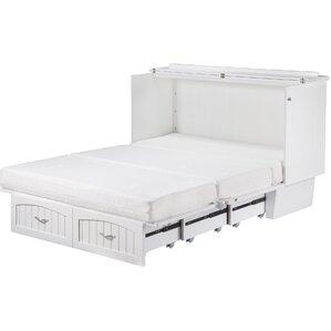 graham queen storage platform bed with mattress
