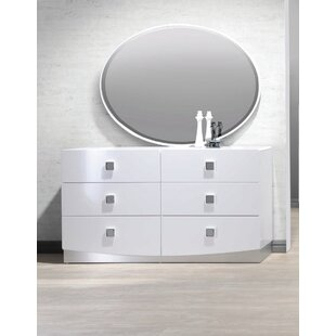 Rachna 6 Drawer Double Dresser with Mirror