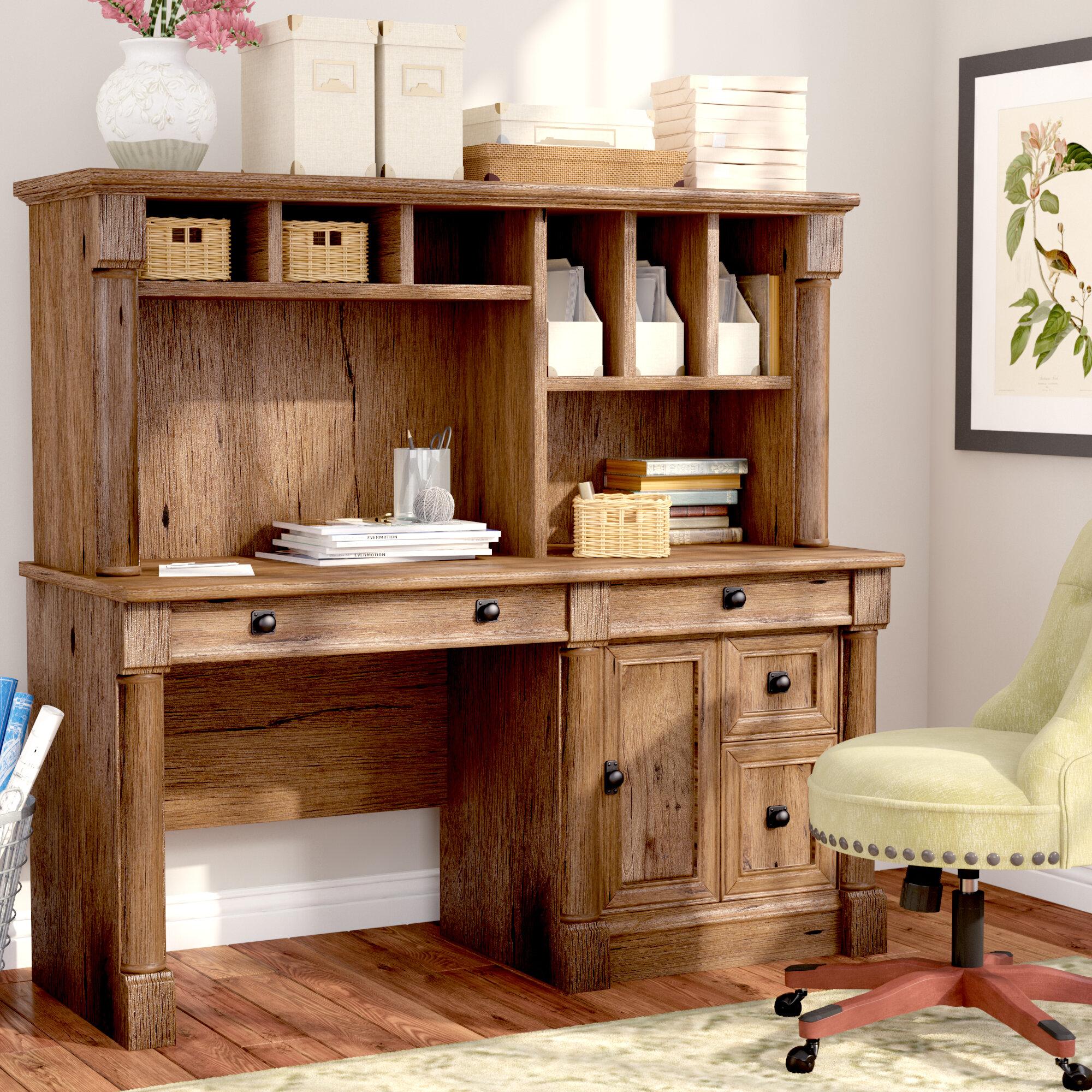 - Three Posts Orviston Computer Desk With Hutch & Reviews Wayfair