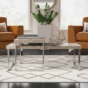 Asine 2 Piece Coffee Table Set with Tray Top