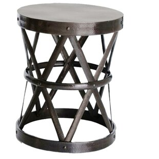 Find for Hammered Drum Cross Table / Stool by Fashion N You by Horizon Interseas