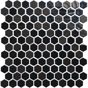 Review Lexington Hexagon 1 x 1 Mosaic Tile in Ebony by Itona Tile