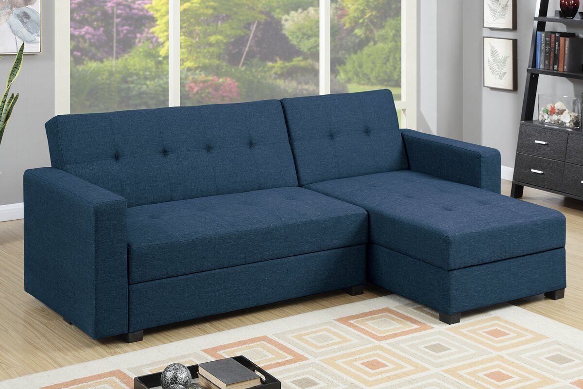 Poundex L-shaped Reversible Sectional Sofa Review