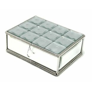 Affordable Price Multi-Faceted Mirrored Jewelry Box By House of Hampton