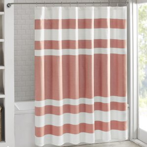 red and brown shower curtain. Gwendolen Waffle Shower Curtain Modern Pink Curtains  AllModern