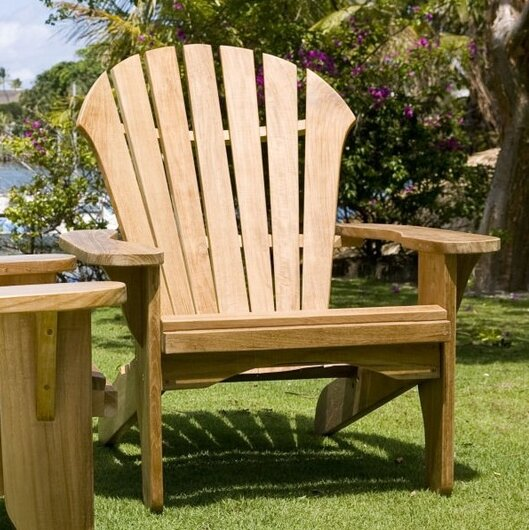 Atlantic Teak Adirondack Chair with Ottoman & Douglas Nance Atlantic Teak Adirondack Chair with Ottoman u0026 Reviews ...