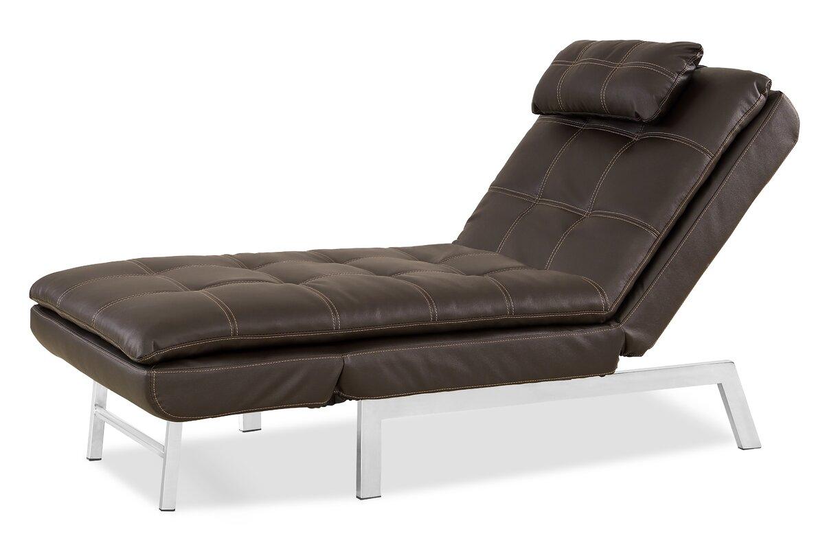 serta futons vienna convertible chaise lounge  reviews  wayfair - defaultname