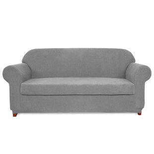 Jacquard Spandex Stretch Box Cushion Sofa Slipcover