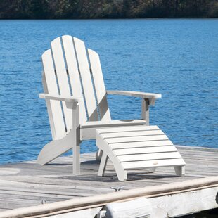 Highpoint Plastic Adirondack Chair with Ottoman by Alcott Hill