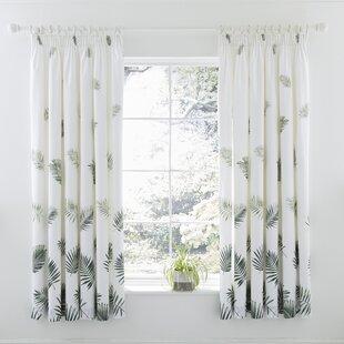 Fern Pencil Pleat Curtains Set Of 2