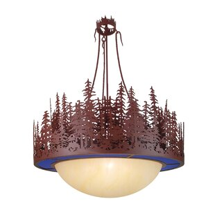 Meyda Tiffany Pine Lake 4-Light Bowl Pendant
