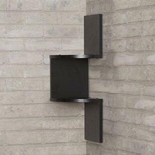 Mercury Row Giedi Corner Wall Shelf in Bl..