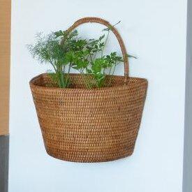 Mistana Telford Handwoven Rattan Wall Basket Reviews Wayfair