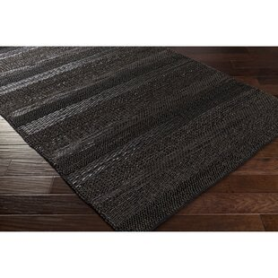 Affordable Price Bennett Hand-Woven Black Area Rug By Corrigan Studio