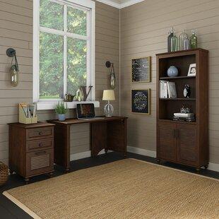Kathy Ireland Office by Bush Volcano Dusk 3 Piece Desk Office Suite