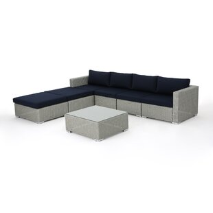 Cullum 7 Piece Rattan Sectional Set with Cushions