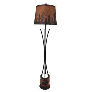 Moose lamps wayfair graciela moose scene flat bar 60 floor lamp aloadofball Image collections