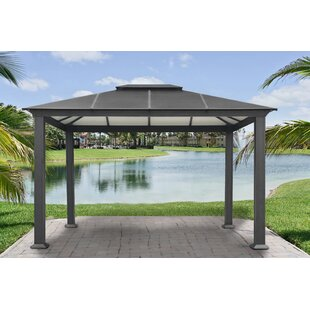 Paragon-Outdoor Santa Monica Four Season 11 Ft. W x 13 Ft. D Metal Patio Gazebo