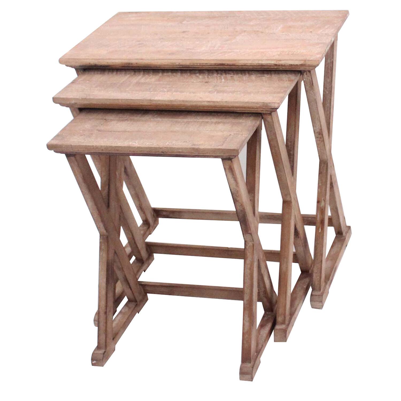 Crestview Cheyenne 3 Piece Nesting Table Set Wayfair