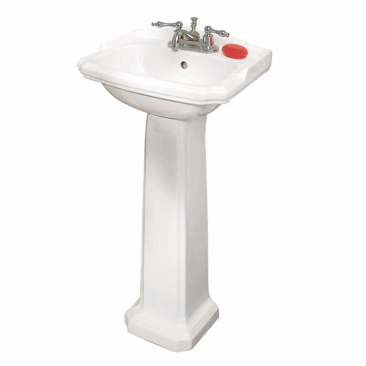 The Renovators Supply Inc Cloakroom Vitreous China 19 Pedestal Bathroom Sinks With Overflow Reviews Wayfair