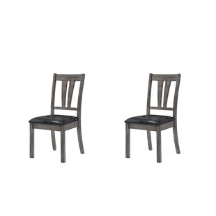 Katarina Side Chair with Upholstered Seat (Set of 2) Mistana