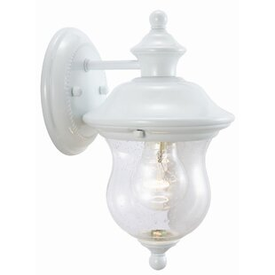 Eugenie 1-Light Outdoor Sconce by Charlton Home