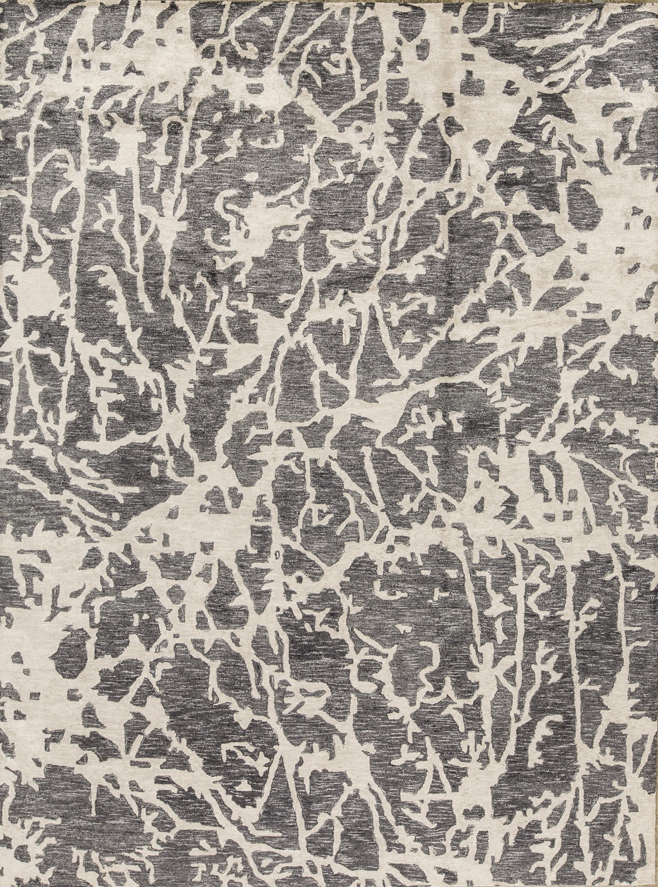 Bokara Rug Co Inc Trenton Abstract Hand Knotted Blue Silver Area Rug Wayfair