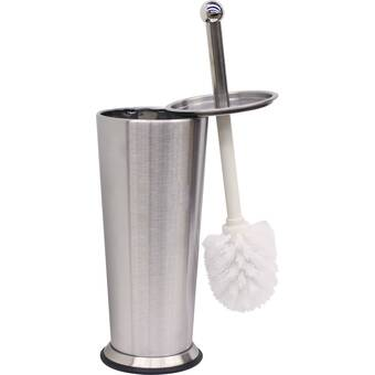 Bath Bliss Stainless Steel 14 75in H Free Standing Toilet Brush And Holder Reviews Wayfair