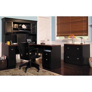 Oakridge 3 Piece L-Shape Desk Office Suite by Beachcrest Home Best Choices