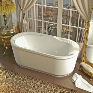 freestanding tub end drain. Royal 66 78  x 33 62 Oval Freestanding Soaking Jetted Bathtub with Centre Drain Tub End Wayfair ca