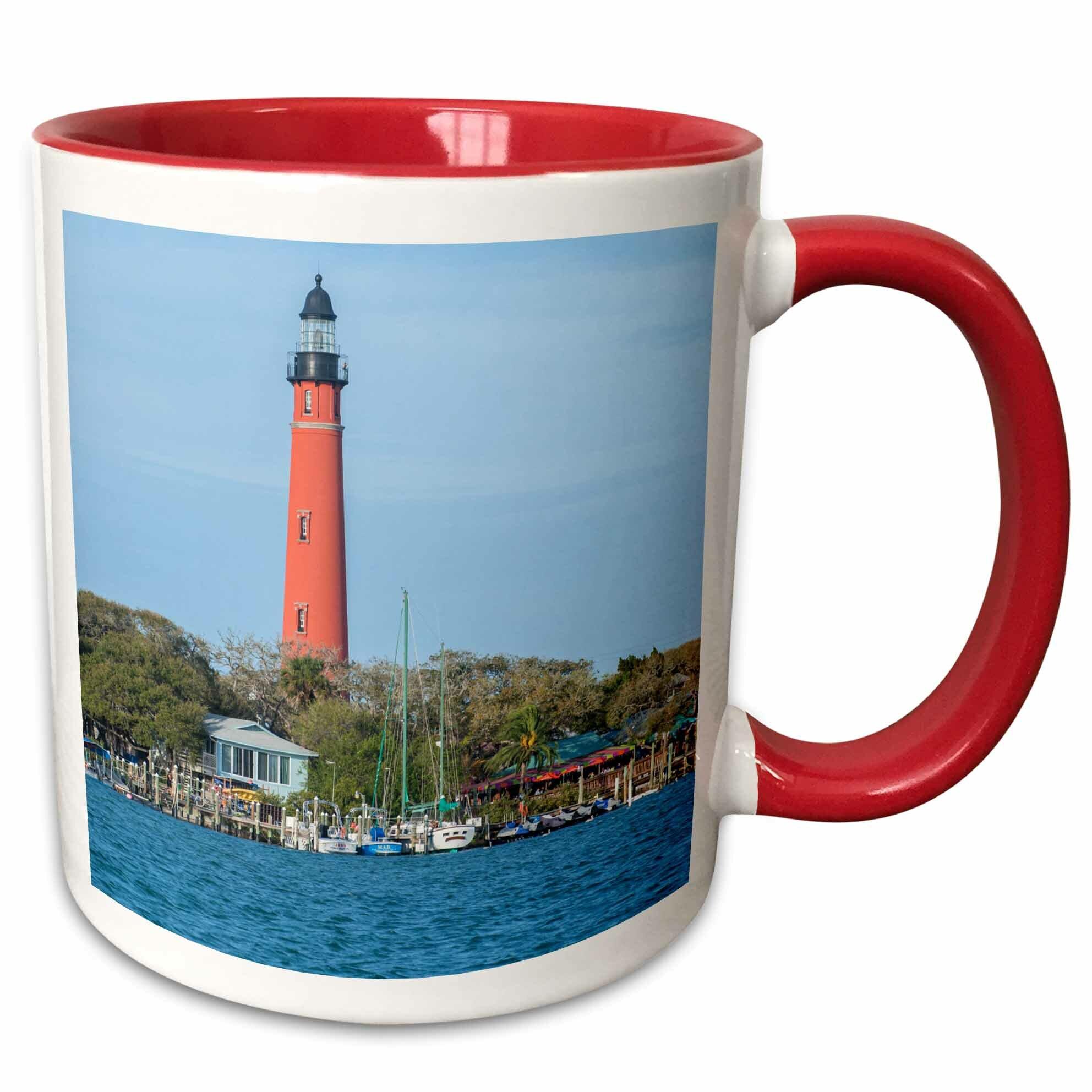 Symple Stuff Rosso Usa Florida Ponce Inlet Ponce De Leon Inlet Lighthouse Coffee Mug Wayfair