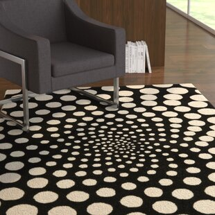 Affordable Chidi Black/Ivory Contemporary Rug By Ebern Designs