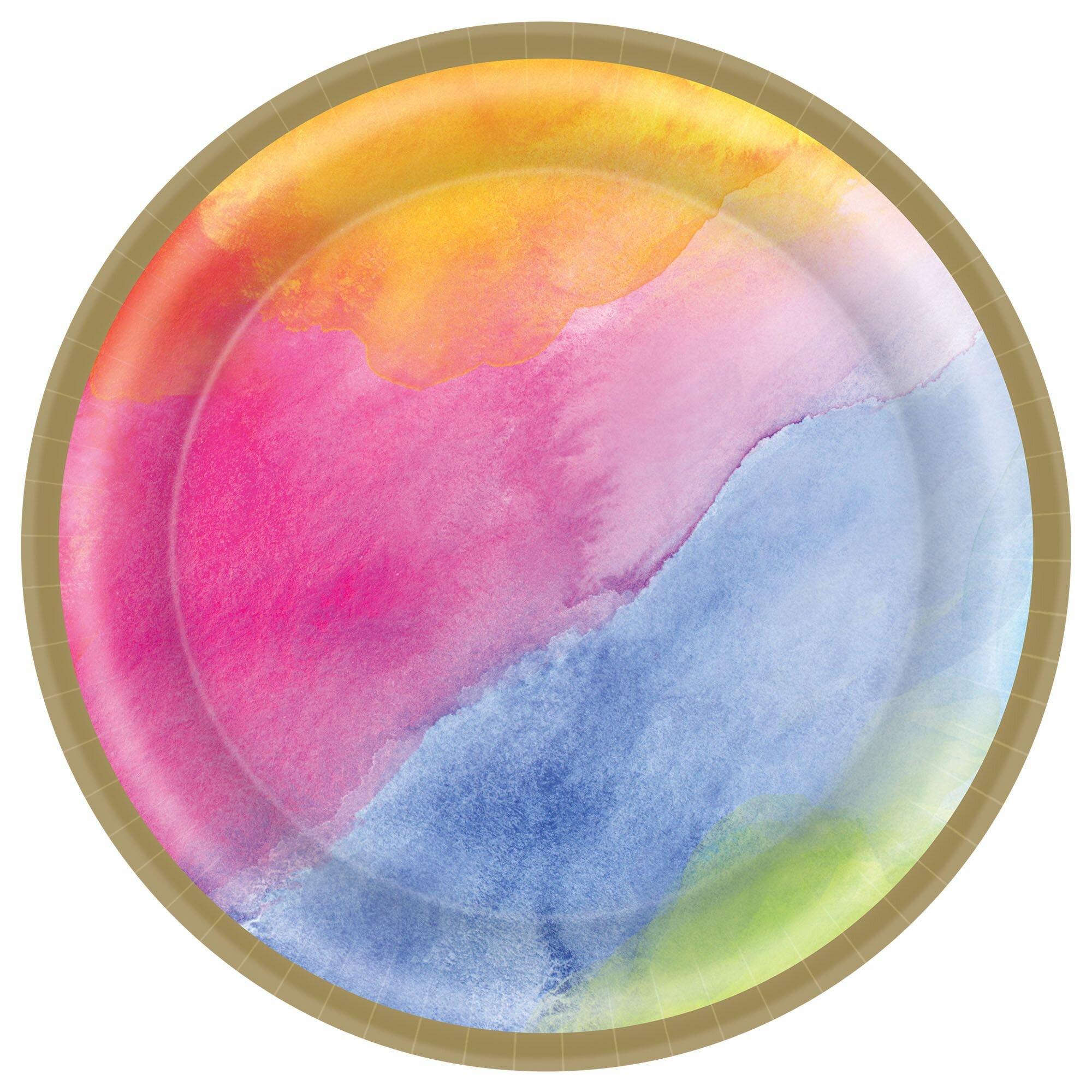 Amscan Rainbow Dream Paper Disposable Dessert Plate Wayfair