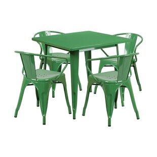 Tarnby Indoor-Outdoor 5 Piece Dining Set By Ebern Designs