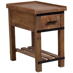 Perlman Barn Door Chair End Table by Loon Peak