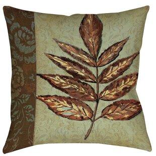 Golden Leaf Printed Throw Pillow